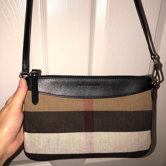 6e74c9be7fa1 Handbags - Burberry canvas check and leather crossbody bag